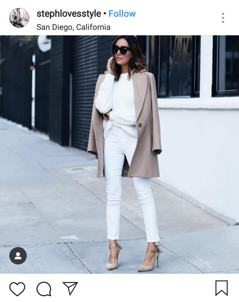 how to style winter white