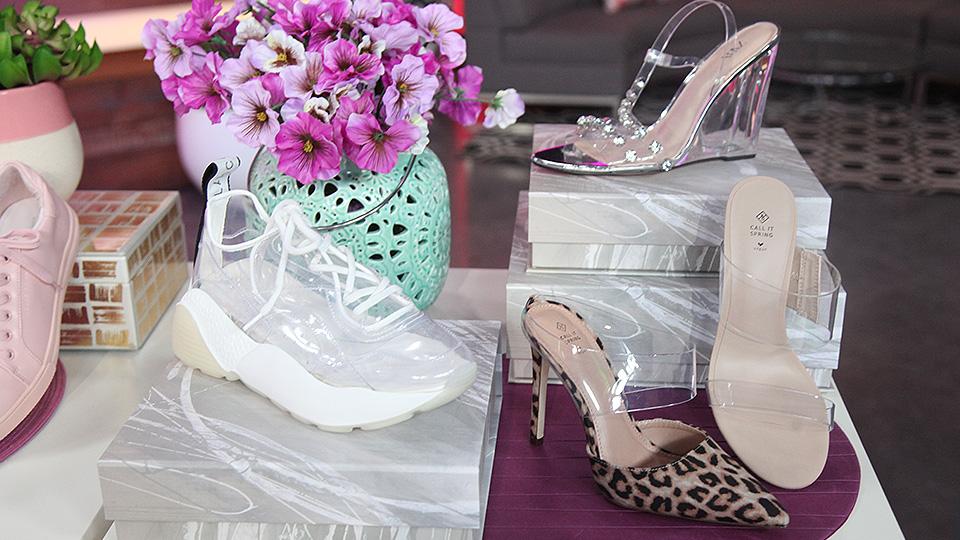 transparent shoe trend