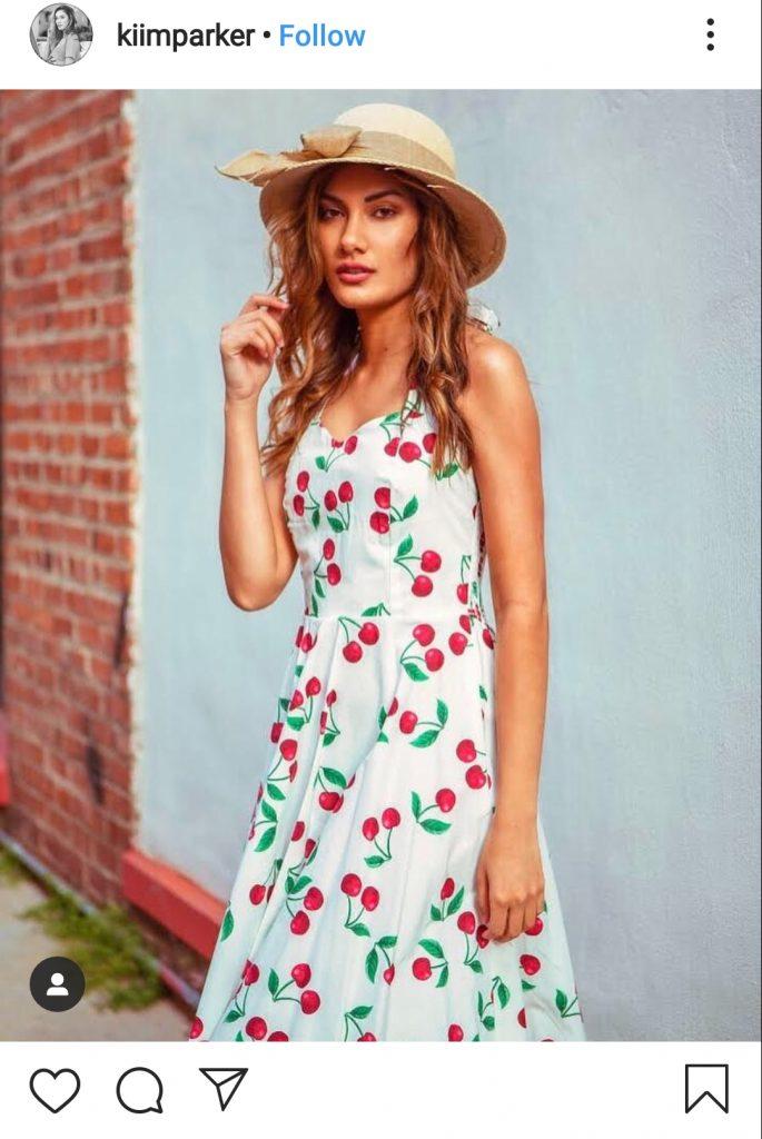 how to wear fruit print dress