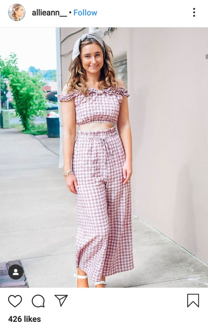 head to toe gingham